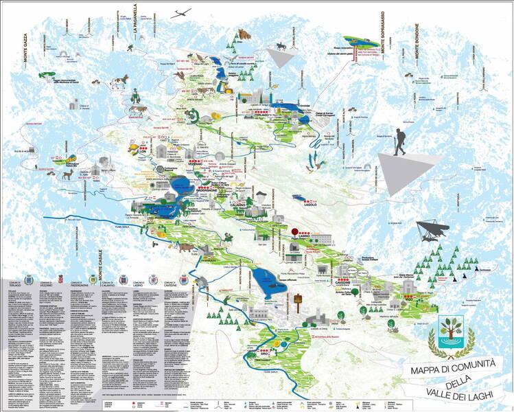 La mappa di comunit ecomuseo della valle dei laghi for Mappa della costruzione di casa